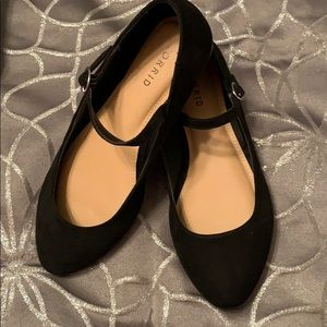 Women's Torrid Mary Janes Suede Feel Black Wide